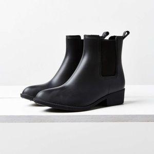 Urban Outfitters Black Dora Rain Boot Bootie